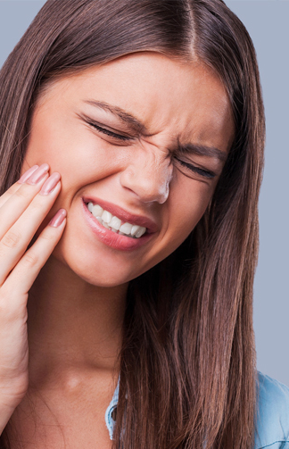 Young Woman Suffering from Toothache in Woodbridge, VA